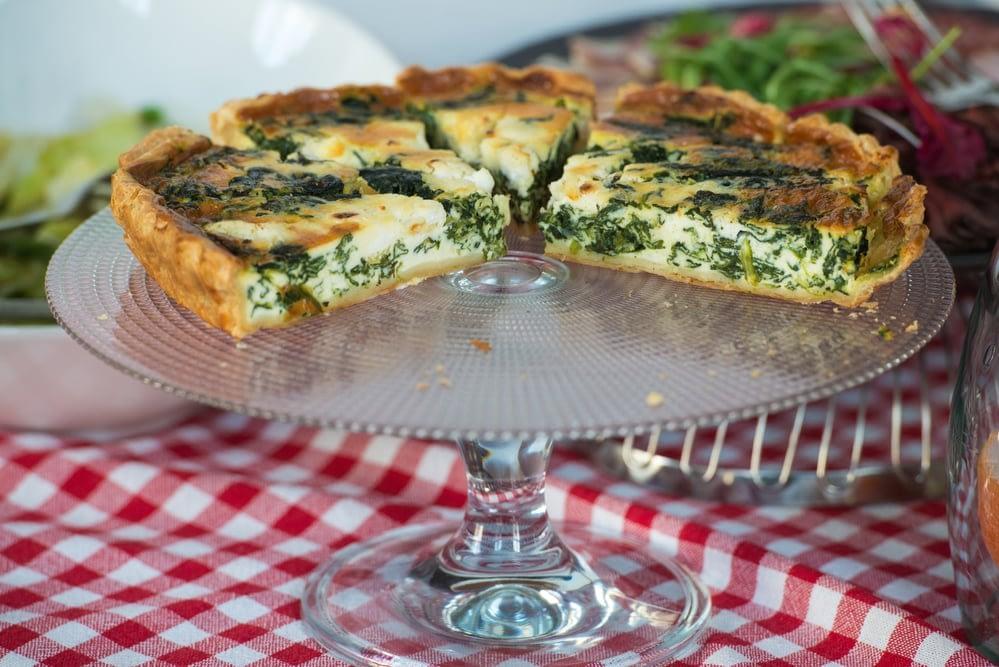 Tarte aux épinards et fromage de chèvre